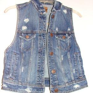 Ladies American Eagle Jean Vest
